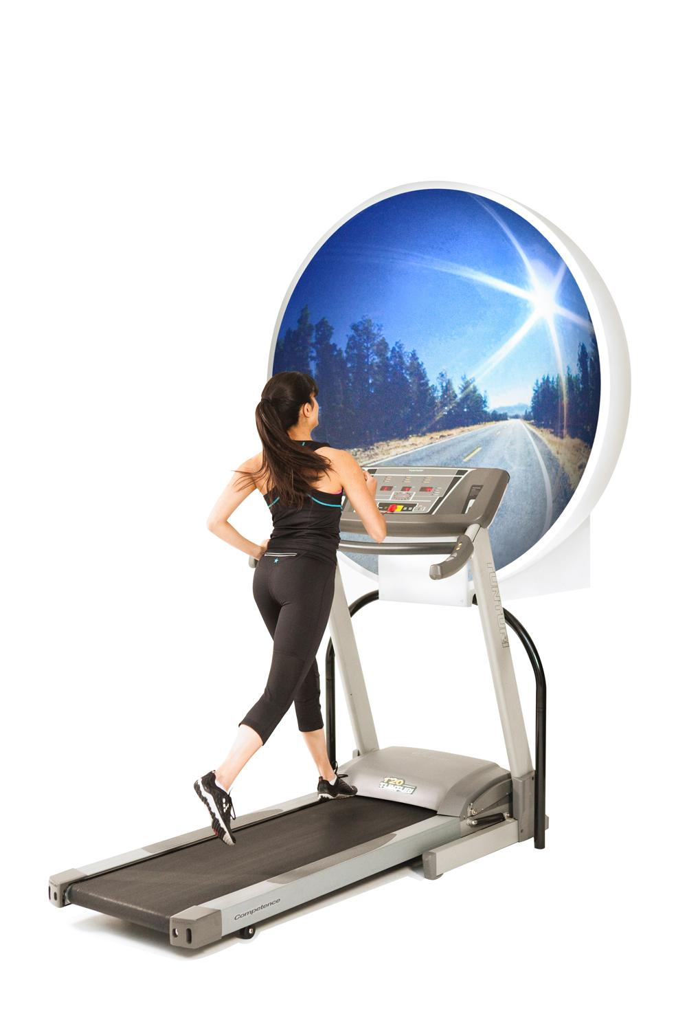 With Zone domes, indoor runners can travel through amazing landscapes – all without leaving the gym