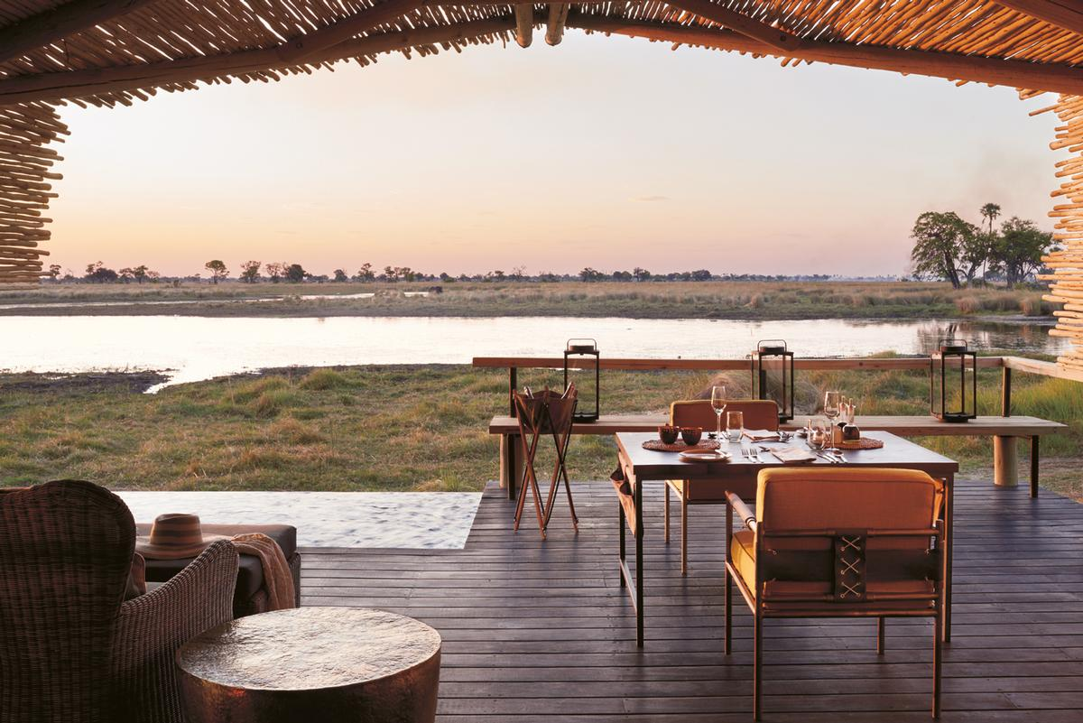 Each guest room has a special terrace with awe-inspiring views of the landcape / Belmond Eagle Island Lodge Botswana
