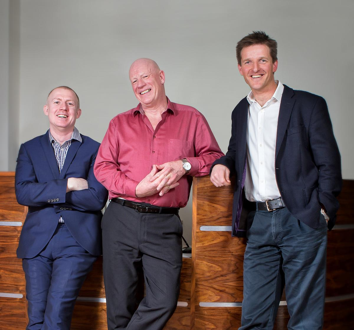 Elliot Walker, commercial director and co-founder, John Holman, director of spa training and Charlie Thompson, operations director and co-founder