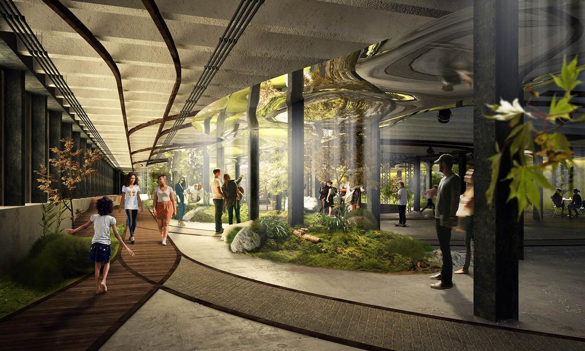 The Lowline scheme, designed by James Ramsey of Raad Studio, would see the transformation of an abandoned, underground trolley terminal in Manhattan's Lower East Side / Raad Studio