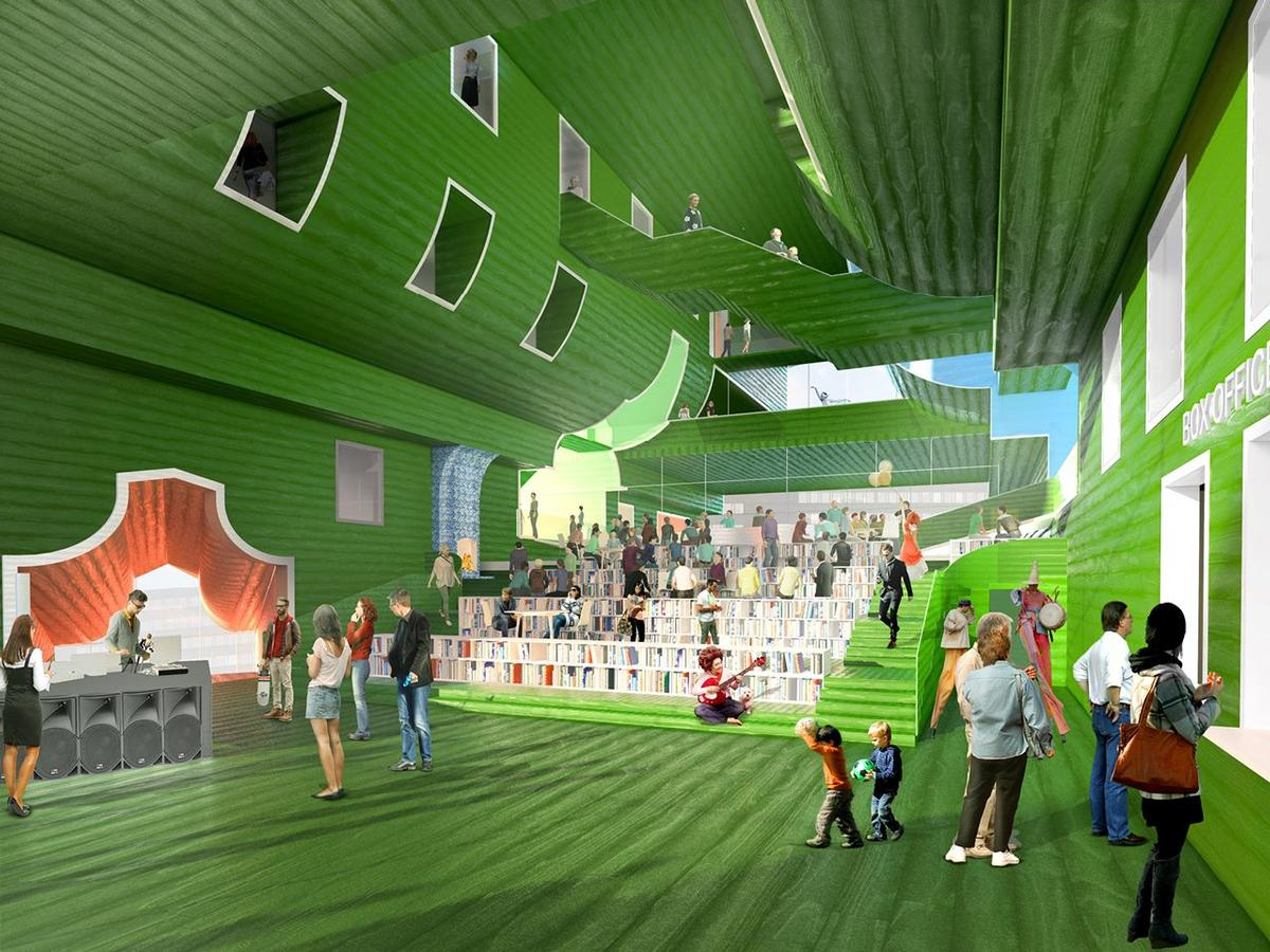 The Zaan Living Room will be the central space for visitors / MVRDV