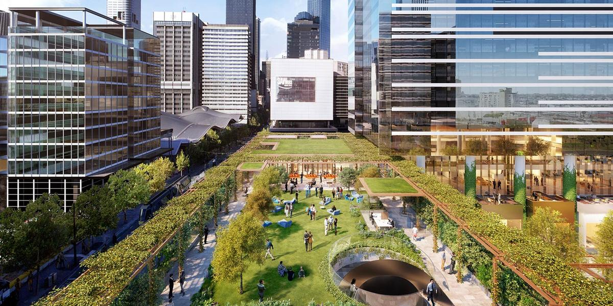 The park, which is inspired by new York's High Line, is scheduled to open in 2018 / Lendlease