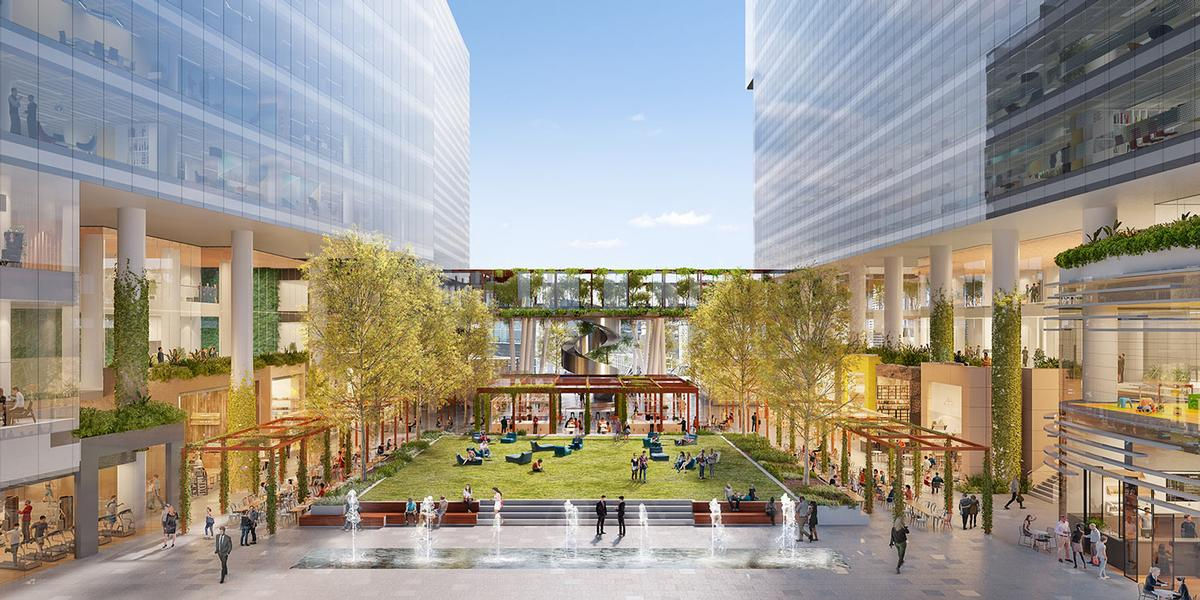 Lendlease are also developing Melbourne Square, another large area of public realm / Lendlease