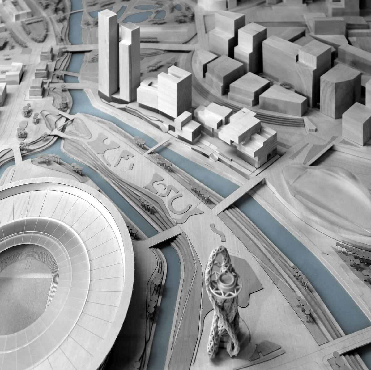 The scheme has been designed by Allies and Morrison, O'Donnell and Tuomey and Arquitecturia / Queen Elizabeth Olympic Park