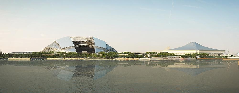 The hub will be located on the Kallang Basin waterfront, adding a perfect environment for water sports to the complex / PHOTO: ©ARUP