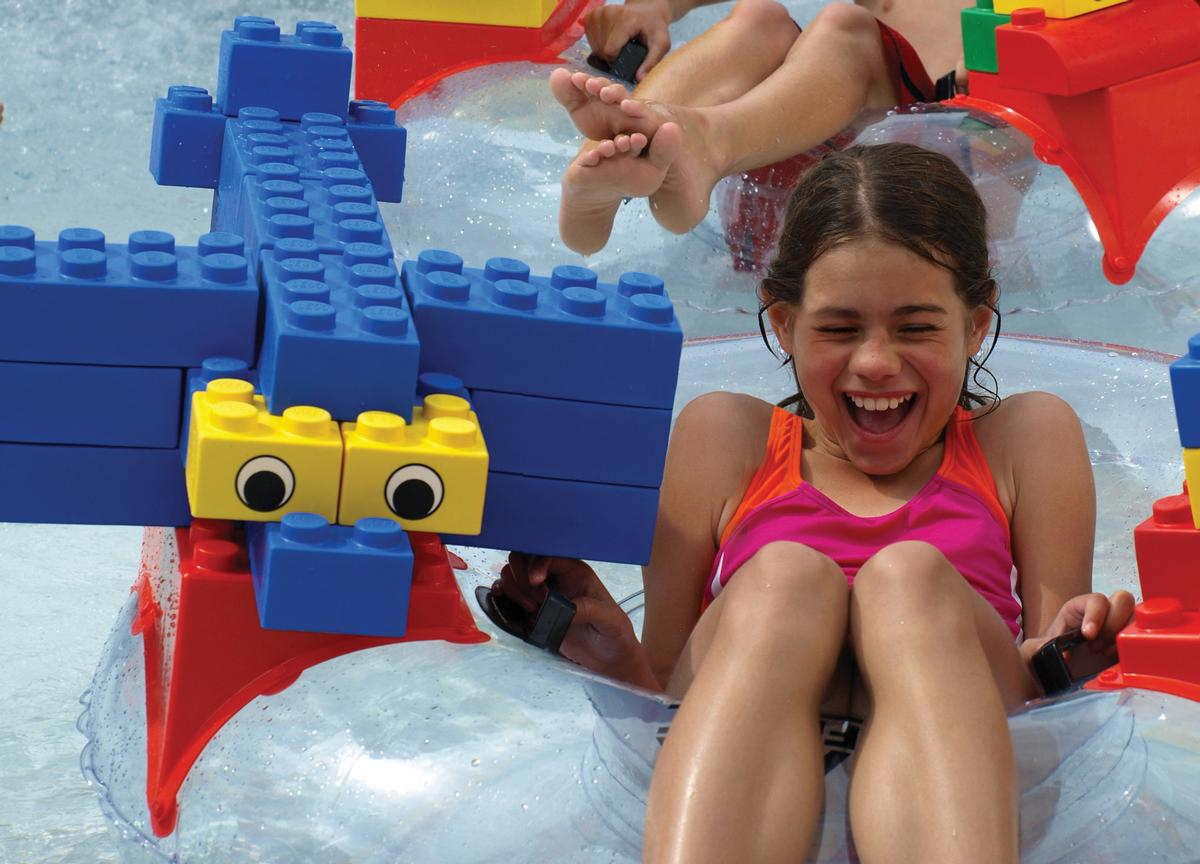 Lego's popular Build-A-Raft River will feature in the new waterpark / Merlin Entertainments