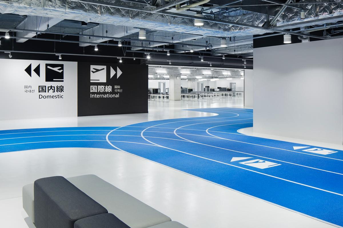 Japan embraces active design with running track-themed airport terminal