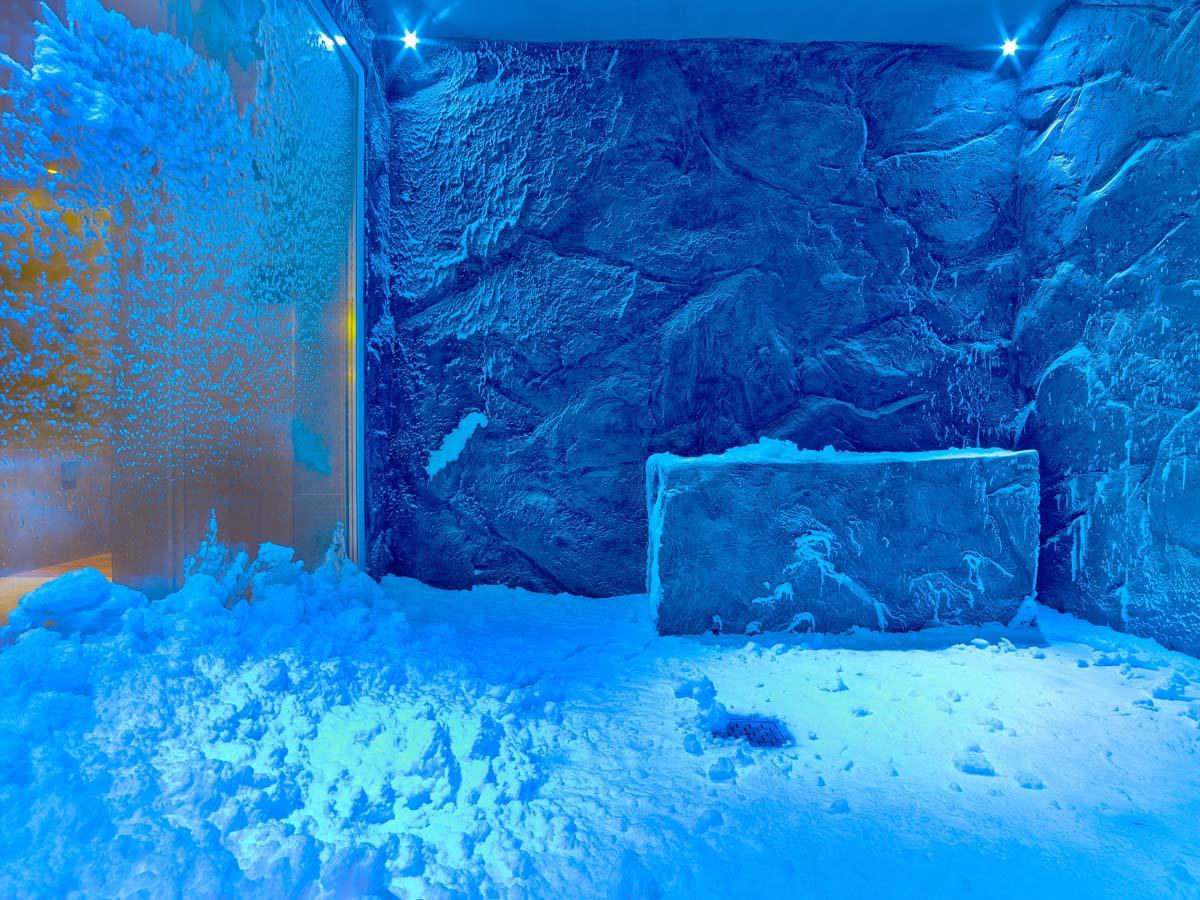 The LivNordic spa's centrepiece is a -10ºC (14ºF) snow grotto that features real snow – supplied by TechnoAlpine Snow Experts / Raison d'Etre