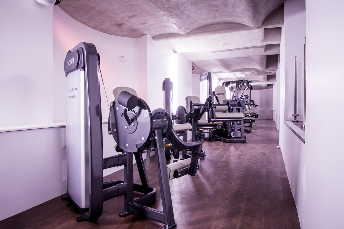 The gym features an extensive range of cardio and strength equipment from Cybex