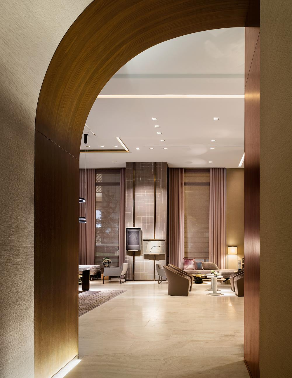 The duo chose neutral hues for the Four Seasons New York Downtown  / Photo: Scott Frances
