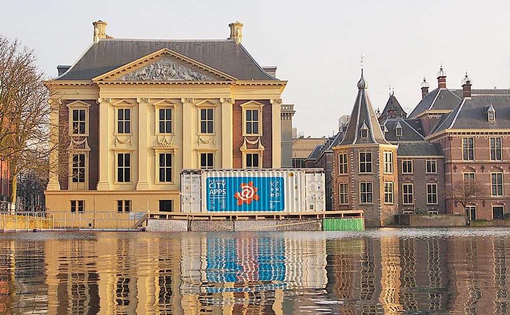 Waterstudio has transformed a shipping container into a floating school