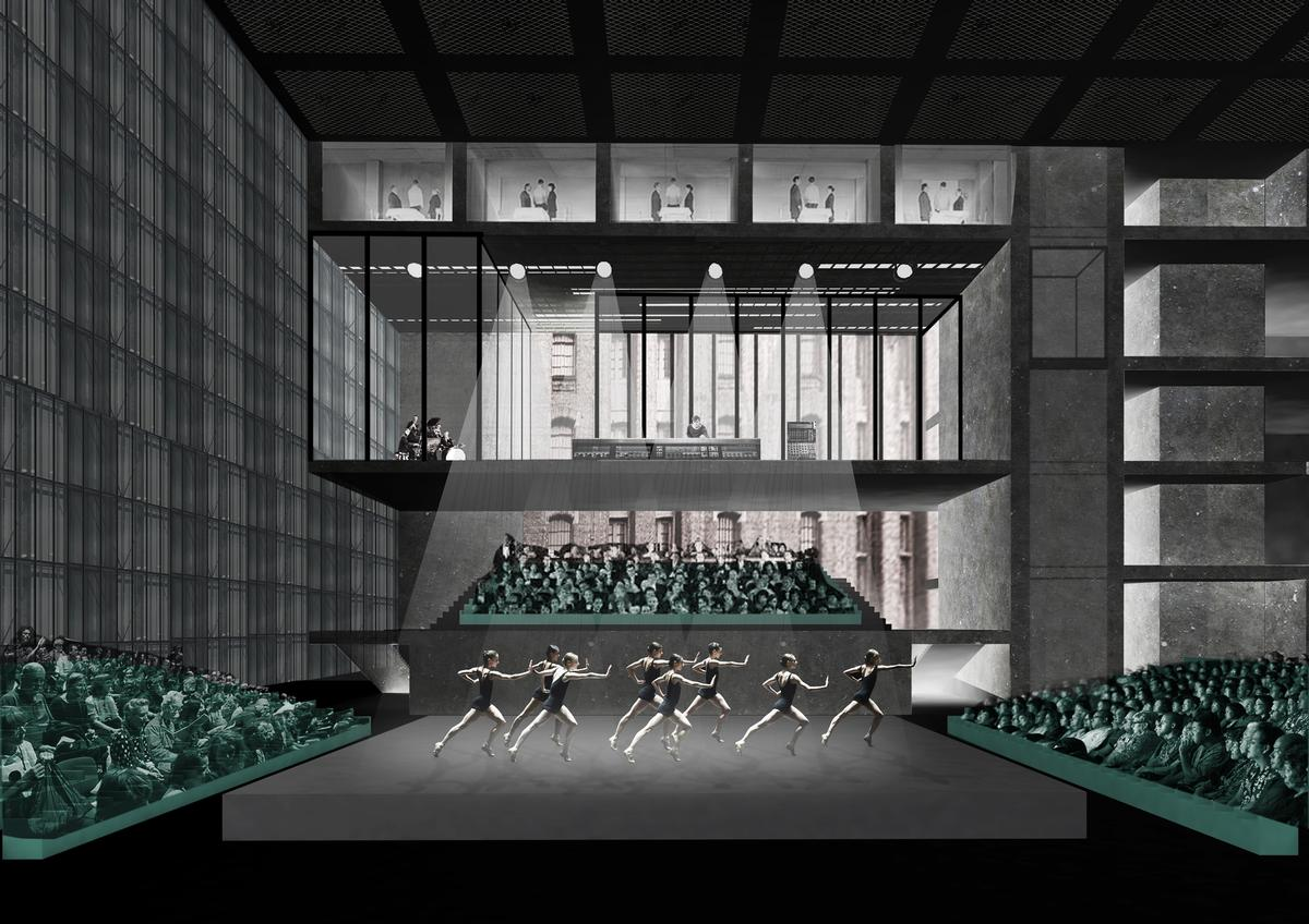 The Factory will commission and host performances of theatre, music, dance, technology, film and TV / OMA