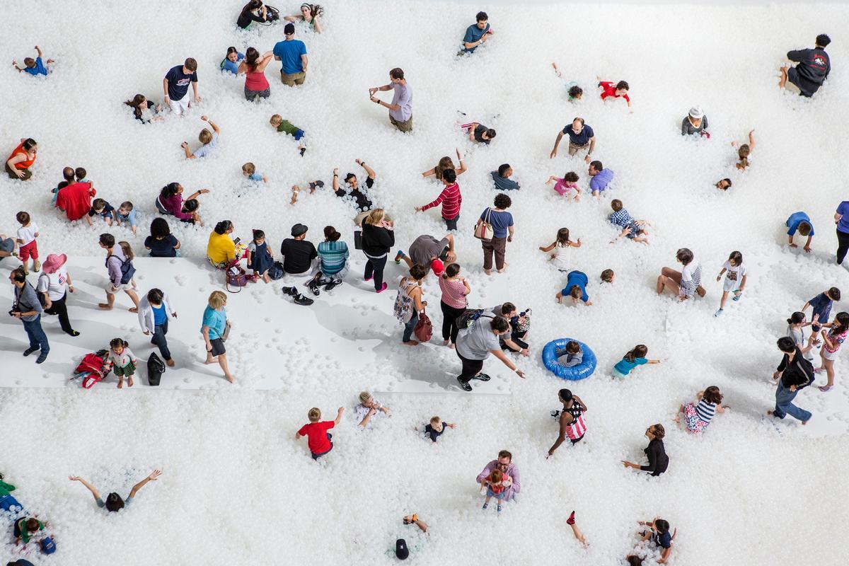 Visitors enjoy the 50-foot shoreline / Noah Kalina
