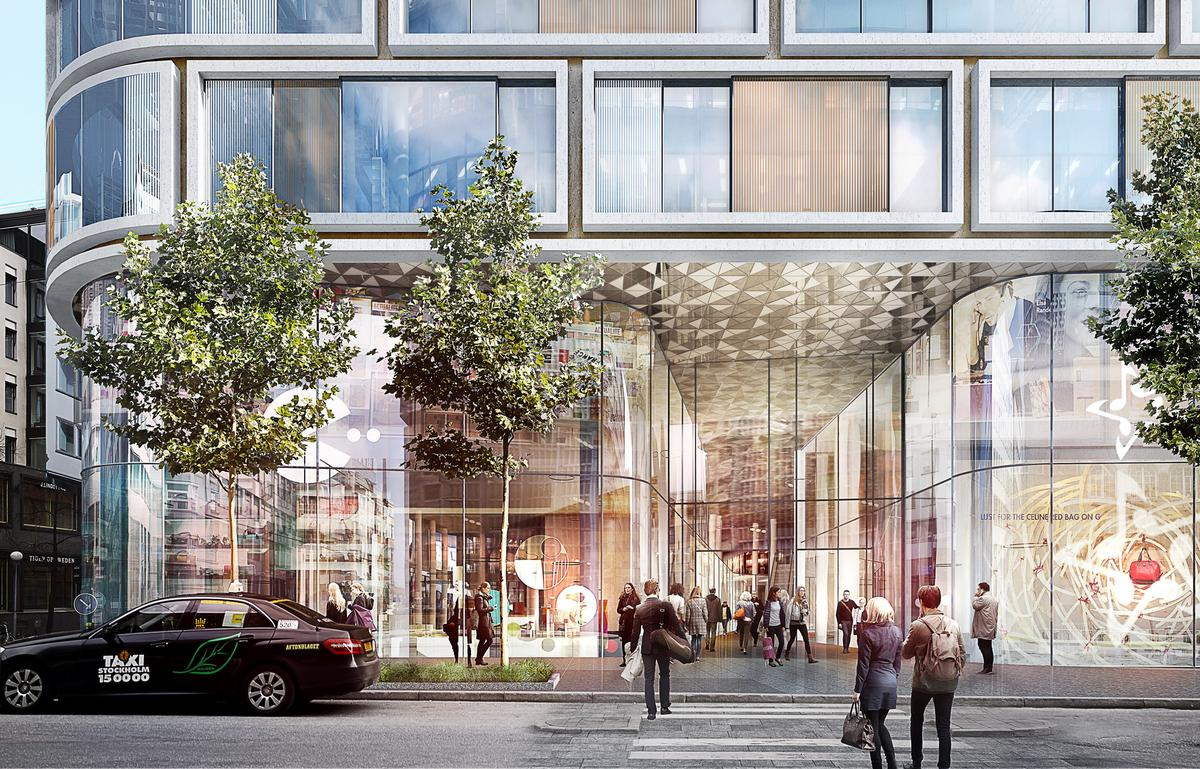 Retail areas will be located at the lower levels, either side of public channel leading people through the building to the other side of the block and a new plaza / Schmidt Hammer Lassen Architects