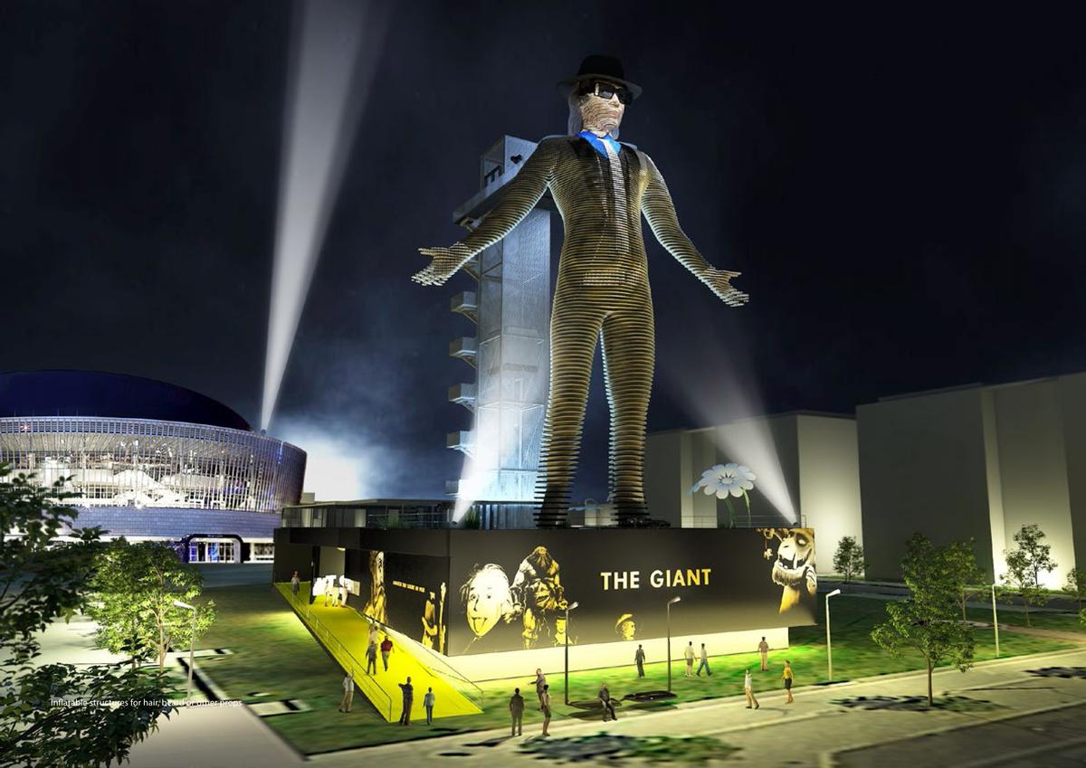 The Giant can take the image of any person using a system of thousands of LEDs / Dan Pearlman