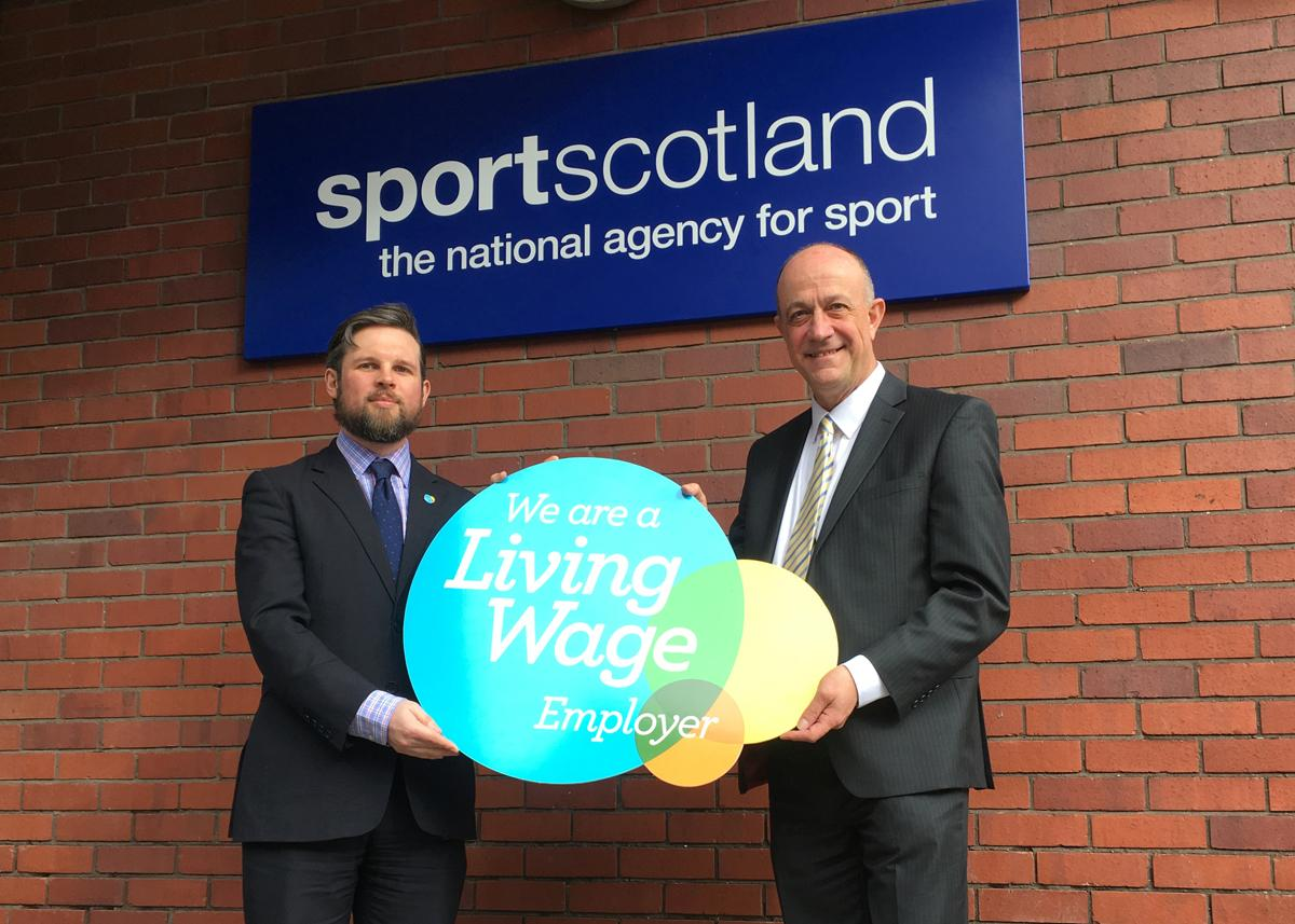 Stewart Harris (right) said the commitment would enhance sportscotland's reputation as an employer of choice