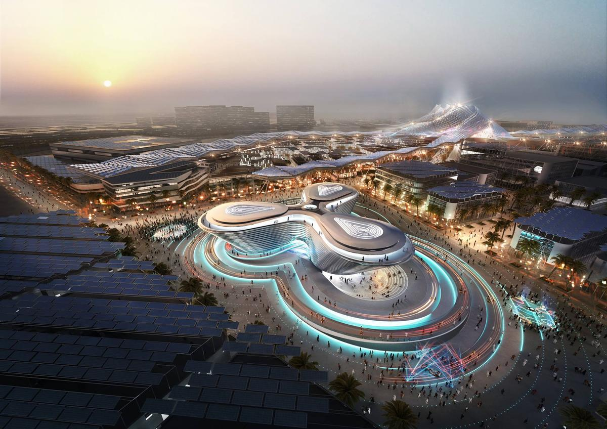 The Mobility pavilion by Foster + Partners / Expo 2020 Dubai