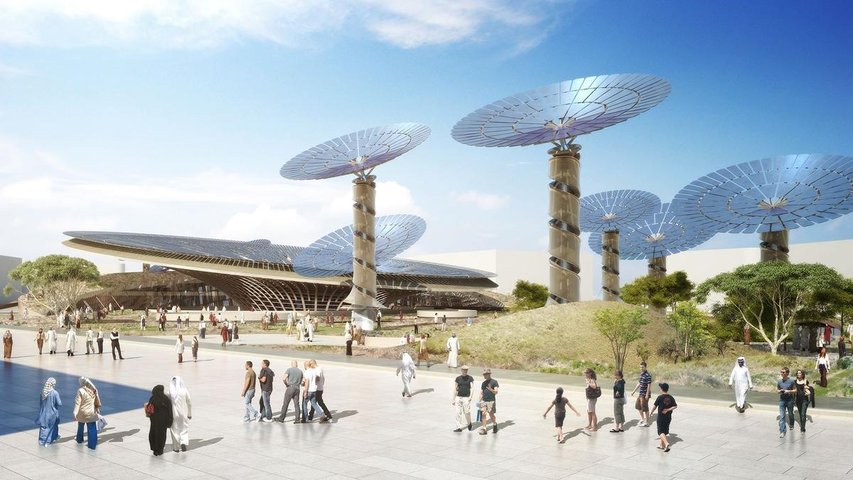 Grimshaw's pavilion will become a long-term 'cluster' complex devoted to innovation / Expo 2020 Dubai