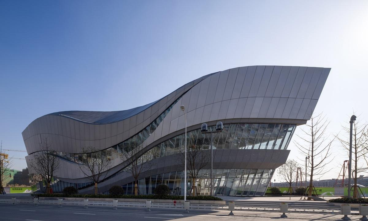 Aedas said the gallery building at the world centre is designed to be seductive with a strong visual impact aedas