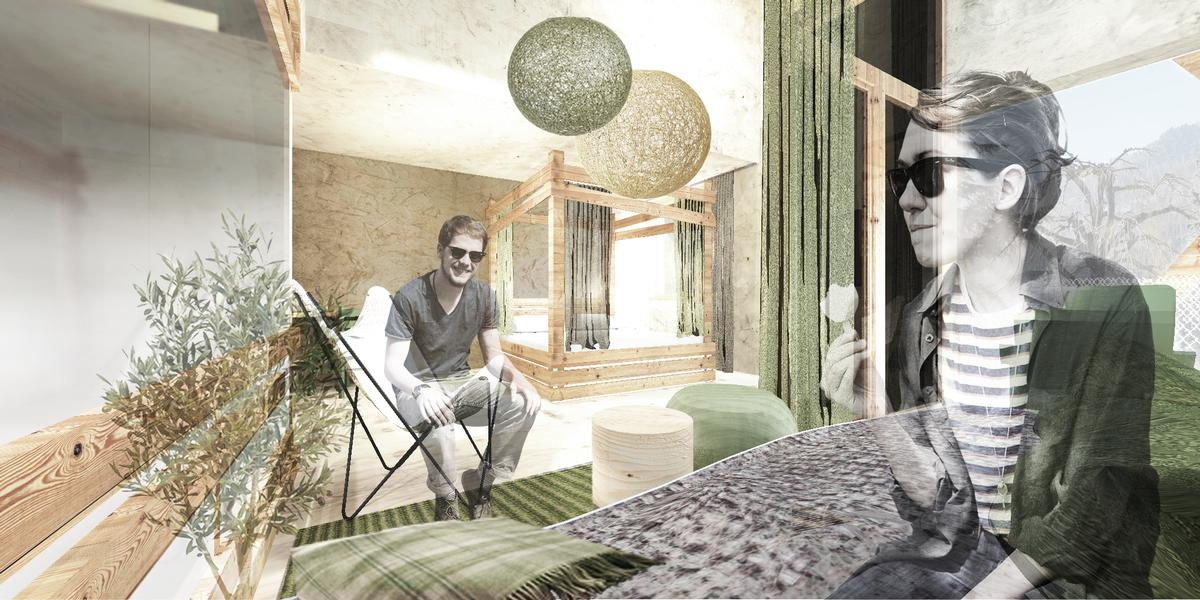 The designers are creating new guest suites in addition to the spa and wellness centre / Network of Architecture