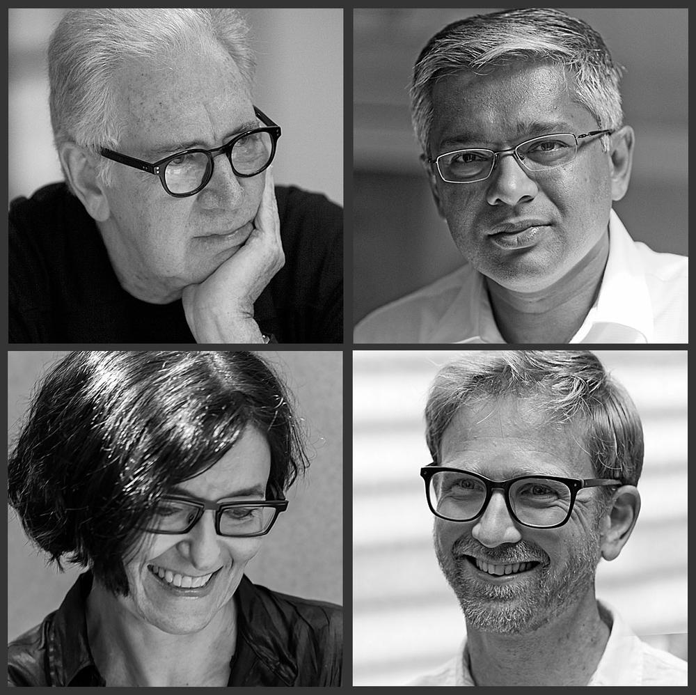 Kerry Hill Architects team members,  top left to Kerry Hill, Tanuj Goenka, Isabelle Vergnaud and Tim Bradley