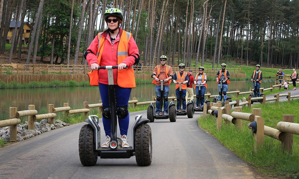 Center Parcs offers a Segway experience, with tuition and a chance to ride the machines on a practice track