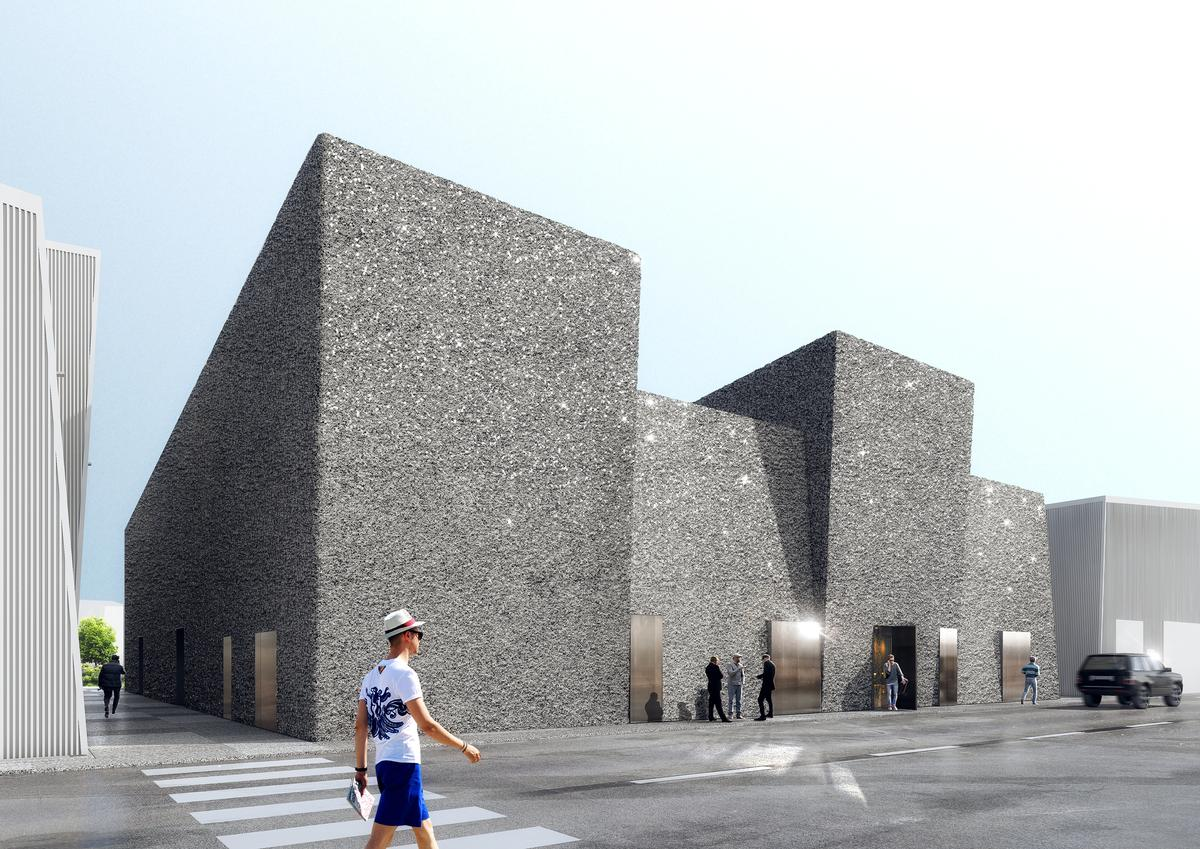The Exterior Shell Of The Buildings Will Be Wrapped In A Customised  Concrete Spray To Distinguish The Volume From Those Around It / OMA