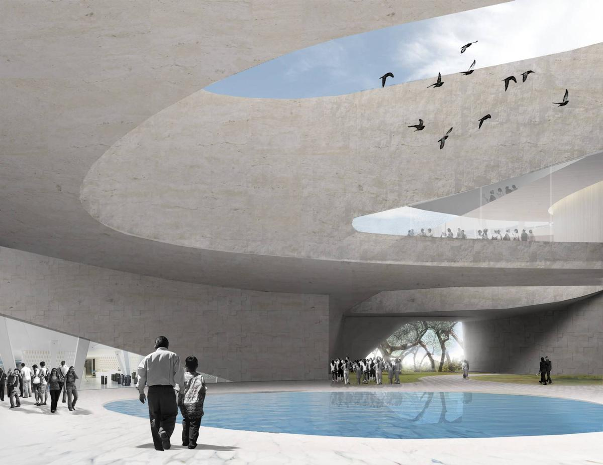 According to Snøhetta, the design 'marries traditional methods of Spanish colonial planning with the natural phenomena found in the sunken pools and ravines of Jalisco' / Snohetta
