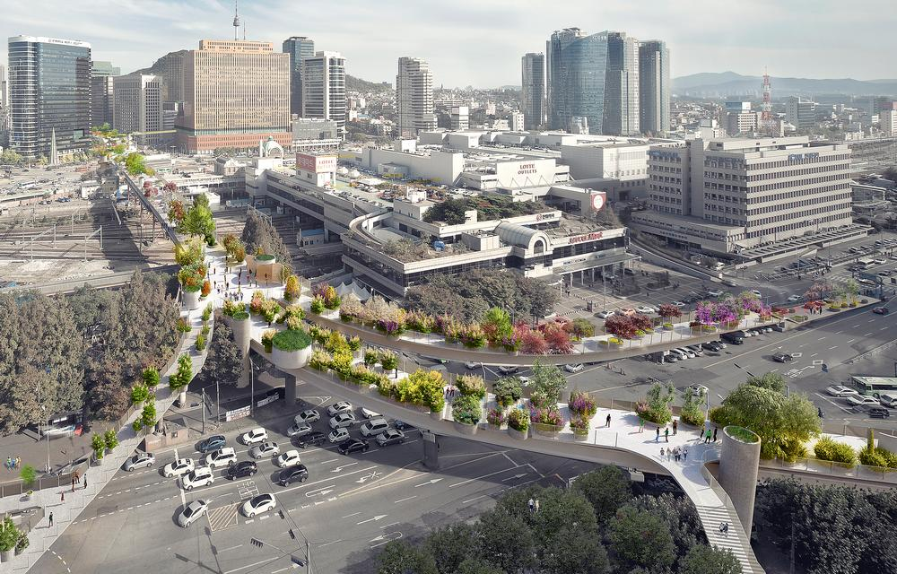 MVRDV's design for the Seoul Skygarden sees an abandoned section of highway turned into an elevated park and walkway / PHOTOS THIS SPREAD ©MVRDV