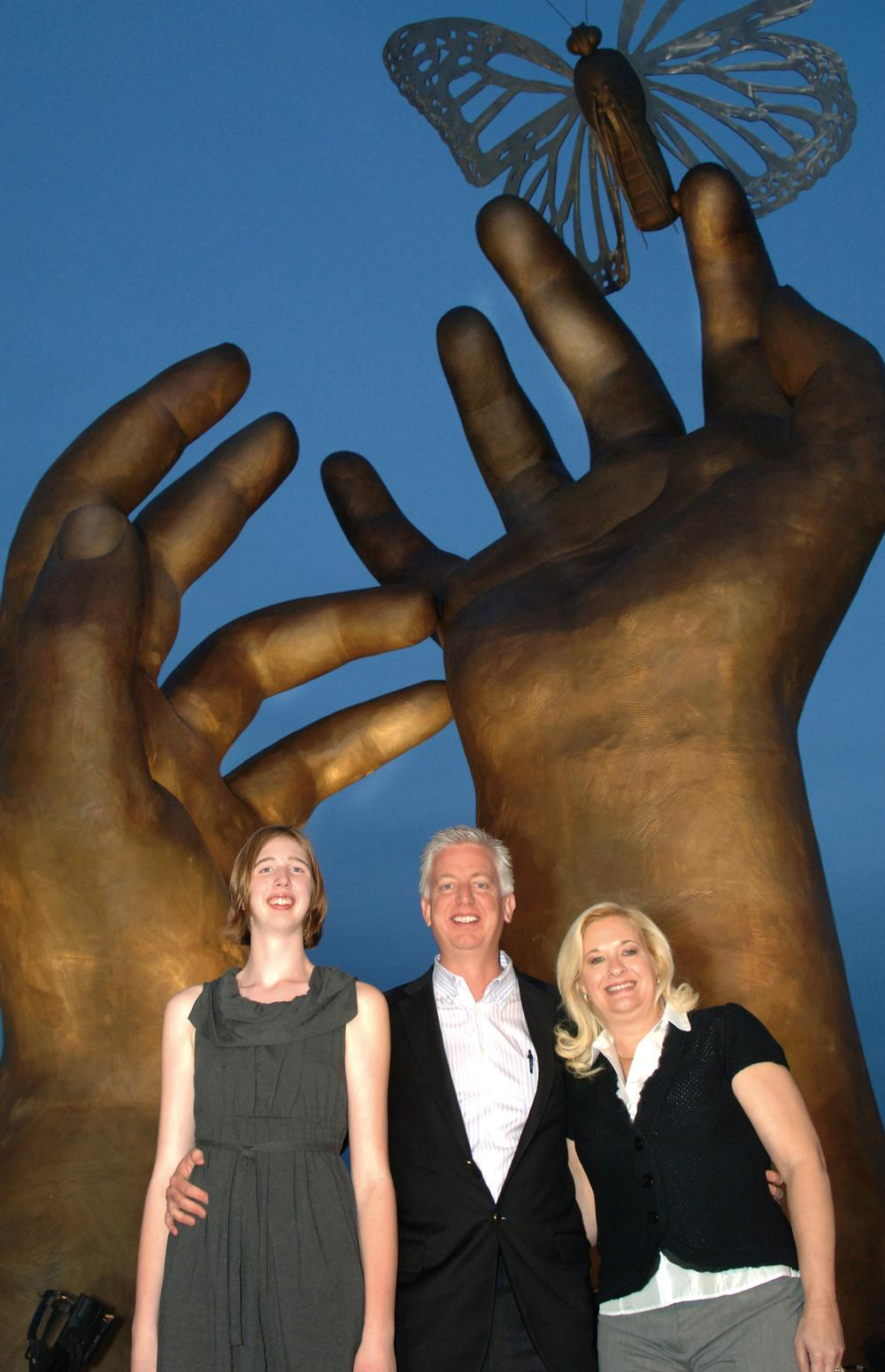 Morgan with her parents Gordon and Maggie