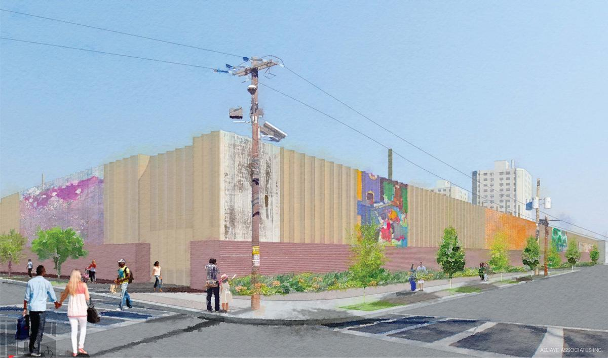 The Art Wall project is designed to beautify the protective façade of an electrical switching station in the city's Fairmount Heights community / David Adjaye Associates