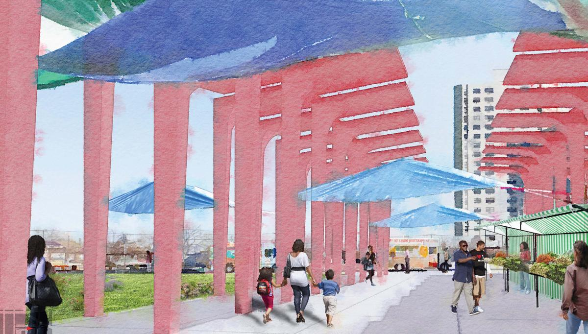 Community forums with architects, artists, local politicians, residents and local leaders were held to develop the Art Wall project and themes the project will explore / David Adjaye Associates