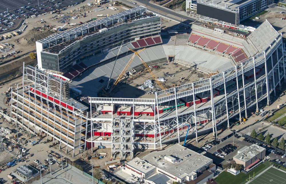 Construction work will be completed in July and the stadium will officially open in August