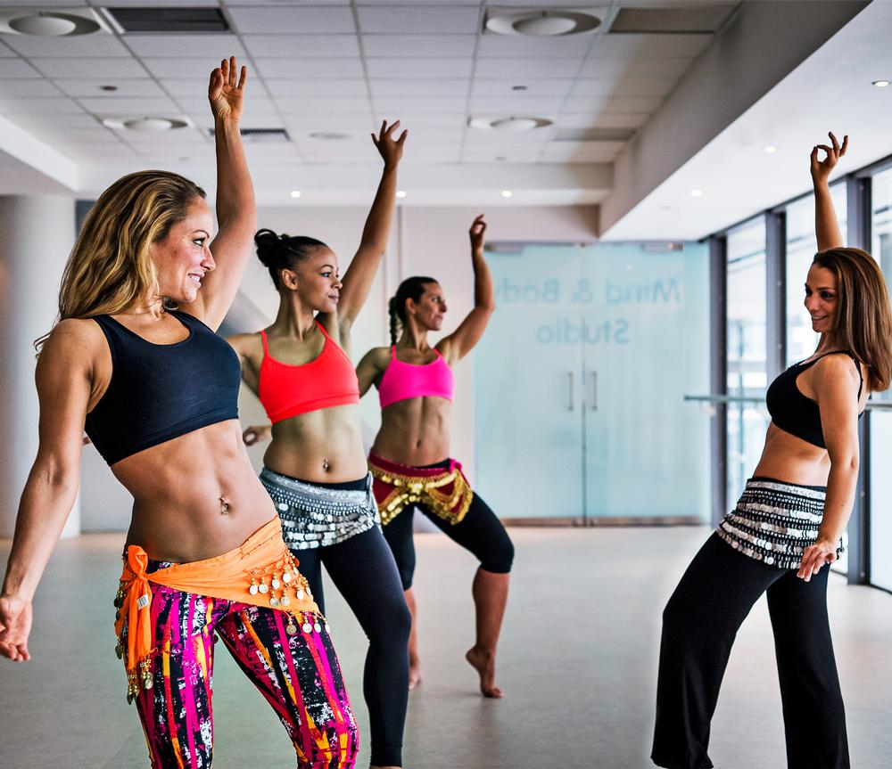 Belly dance classes are popular at Reebok's club in London