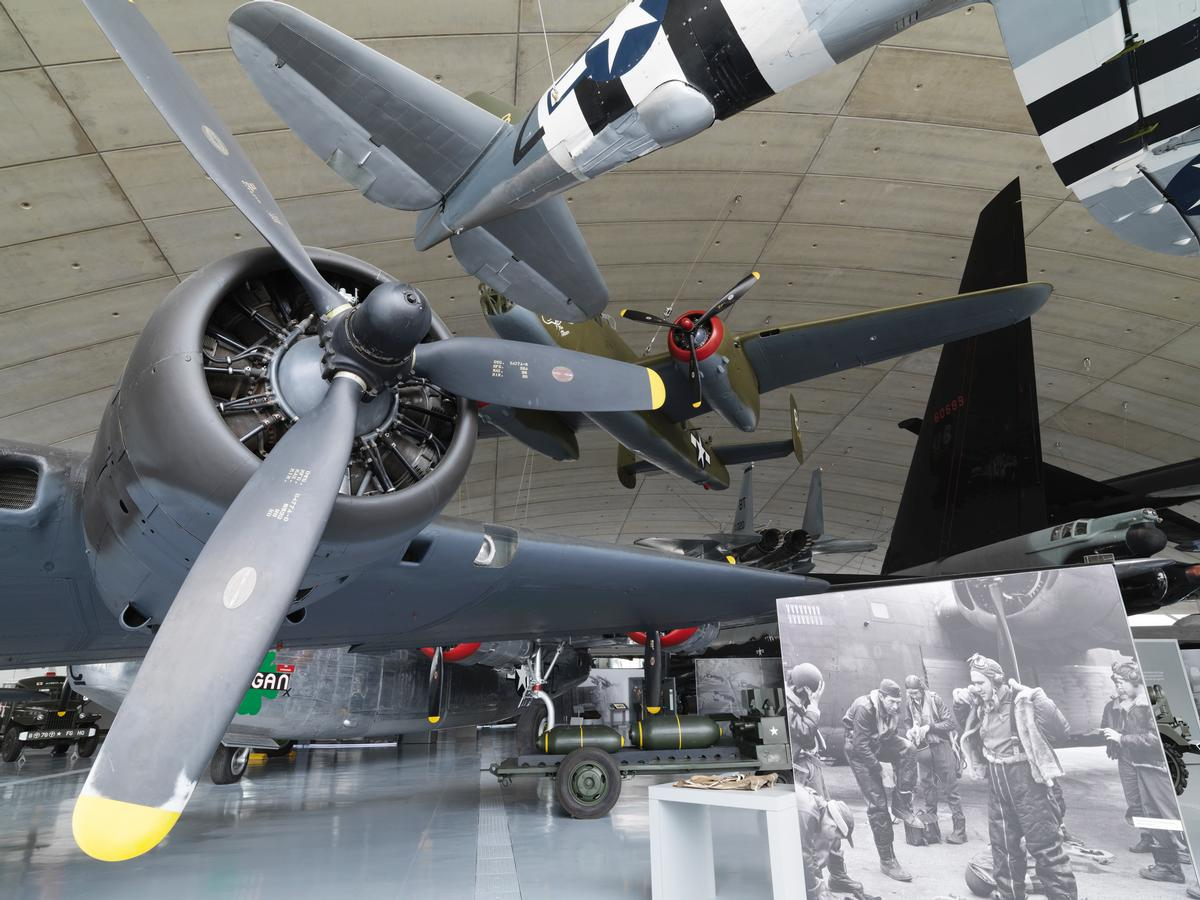 The museum has a new people focus, looking at the lives and times of the people who flew or were involved with the aircraft collection / Imperial War Museum Duxford
