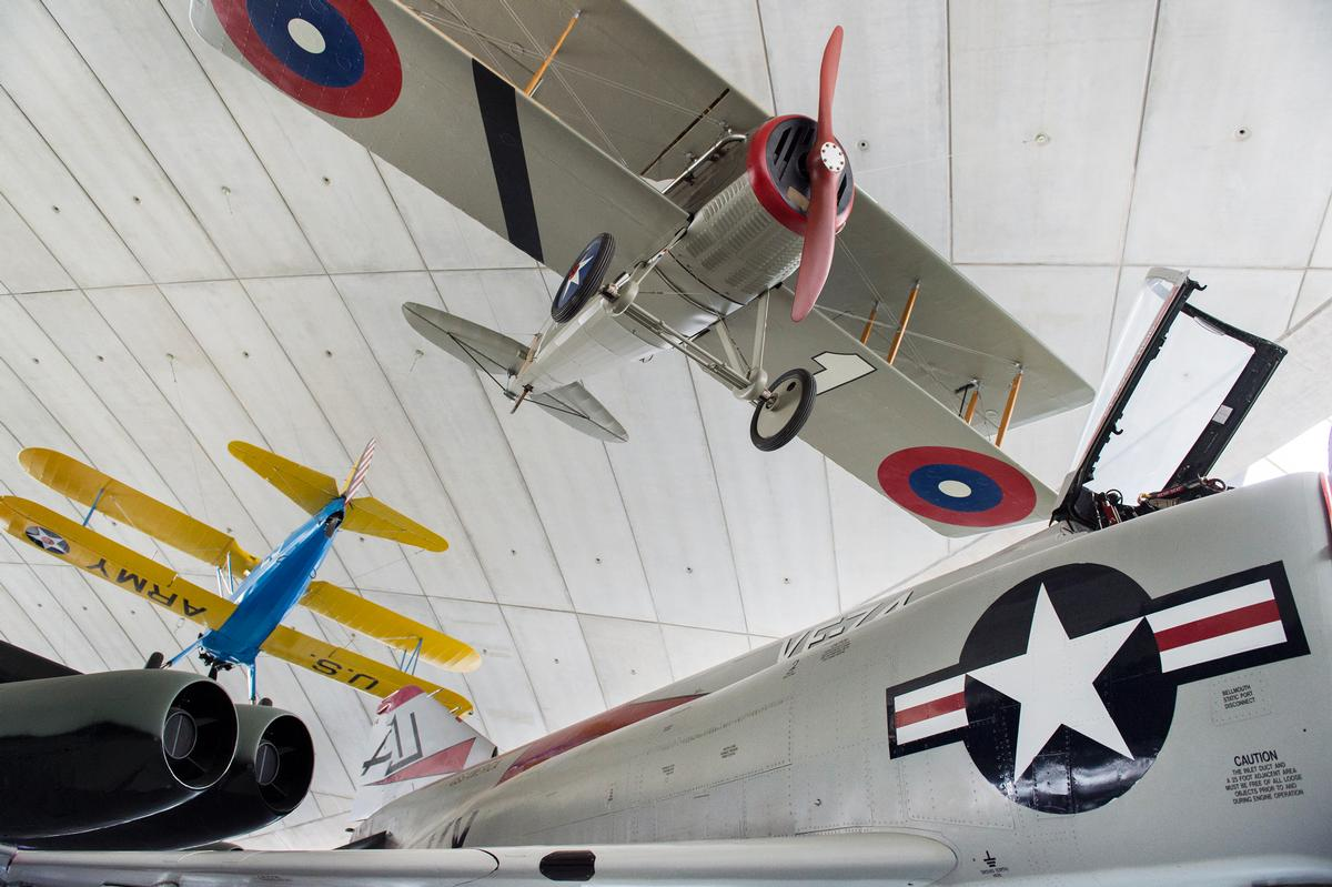 The £3 million transformation has been made possible with the support of the Board of Trustees of the American Air Museum in Britain and a number of funders, sponsors, trusts, foundations and individual donations / Imperial War Museum Duxford