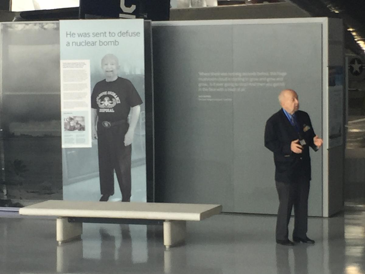 The museum tells the stories of people like Jack Revelle, who tells the story of his role as a bomb disposal officer, dealing with an incident where a B-52 armed with nuclear weapons crashed in 1961 / Tom Anstey