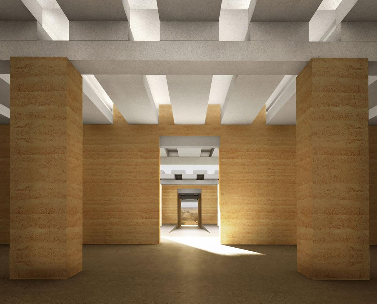 Chipperfield's Naqa Site Museum is designed to protect part of an archaeological site from sun, sandstorms, rain and looters while also serving as an exhibition hall / David Chipperfield Architects