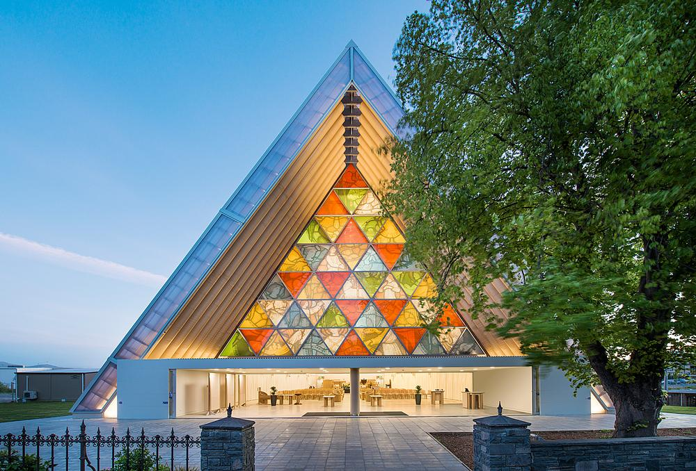 Shigeru Ban's Cardboard Cathedral in Christchurch has been designed to stand for 50 years / Photo: Stephen Goodenough