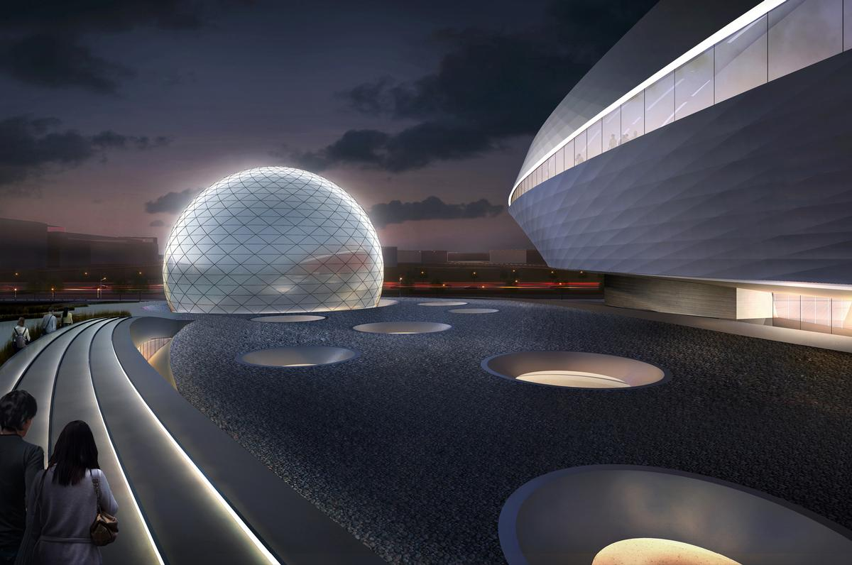 The sphere will house a planetarium theatre / Ennead Architects
