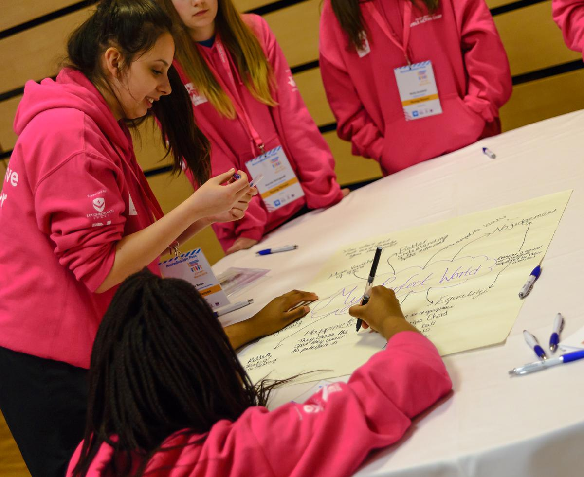 The girls will take part in team building exercises and workshops as well as sporting activities