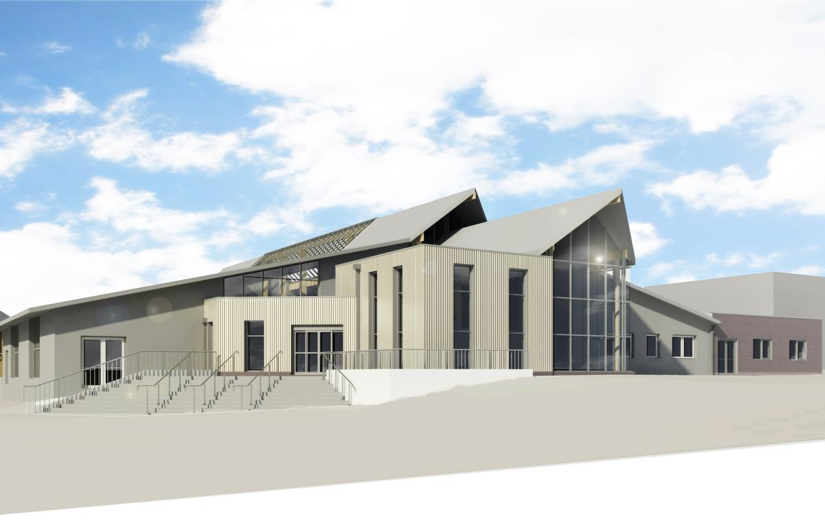 An artist's impression of the refurbished Swan Pool and Leisure Centre