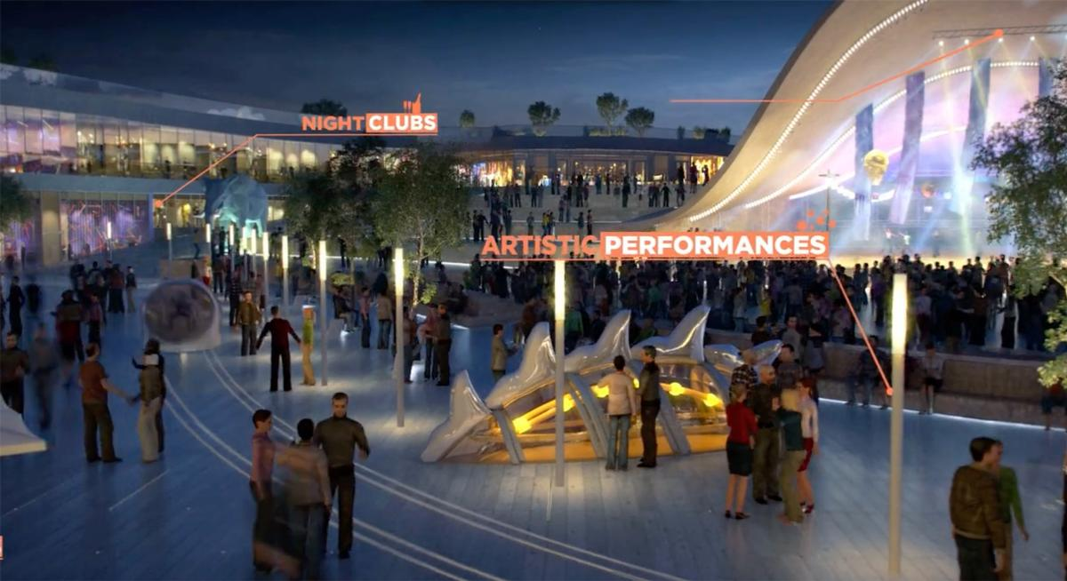 The €3.1bn (US$3.5bn, £2.4bn) project is one of the largest ongoing leisure developments on the planet  / BIG