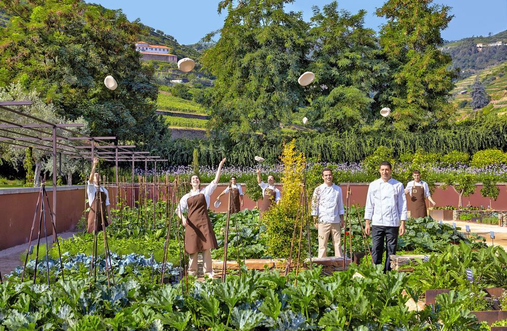 The kitchen garden at Six Senses Douro Valley, Portugal