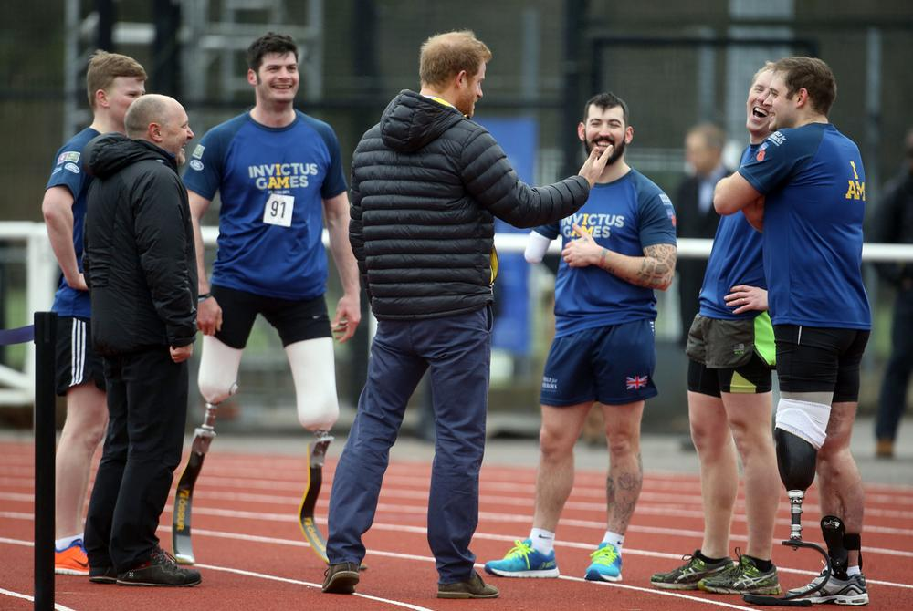 Track and field team trials involve people with a range of disabilities
