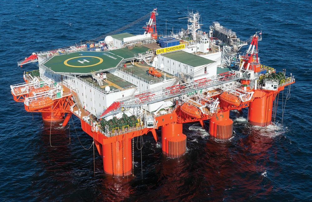 Safe Scandinavia is one of around 20 semi-submersible 'flotels' in the world