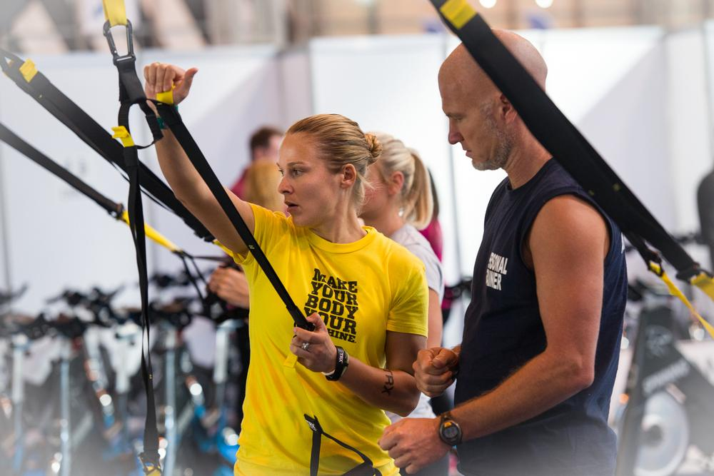 TRX was one of the supplier stands hosting the LIW Early Morning Workout sessions