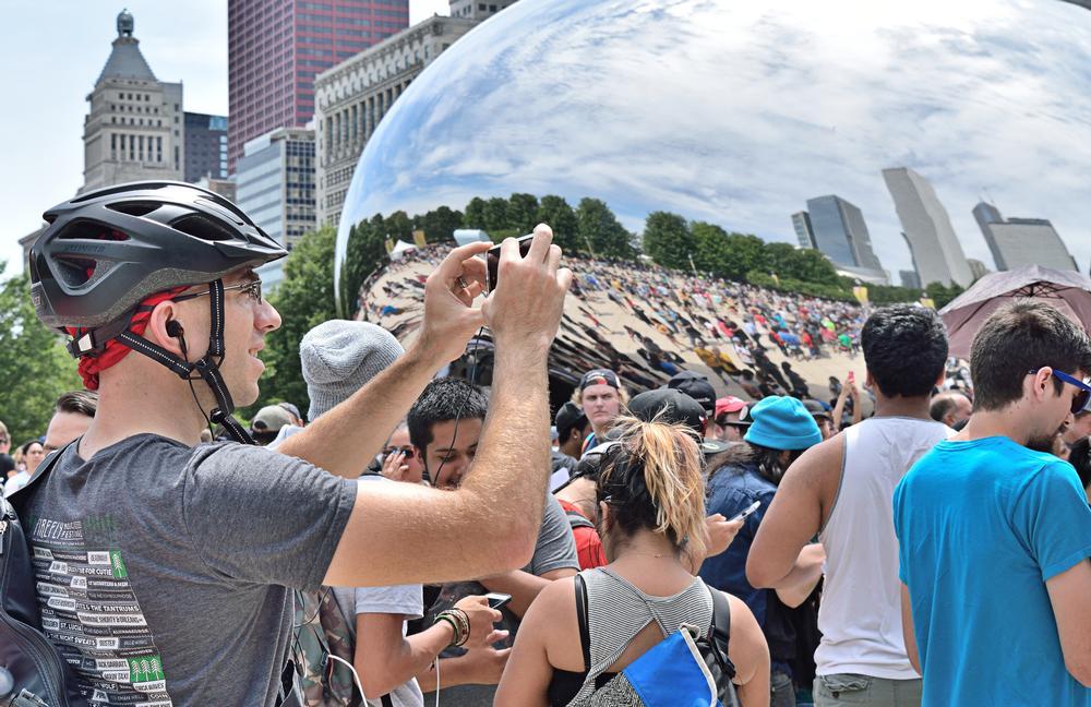 Social interaction: Hundreds of Pokémon Go players met up at Millennium Park in Chicago, US, this summer / Steve Hamann / Shutterstock.com