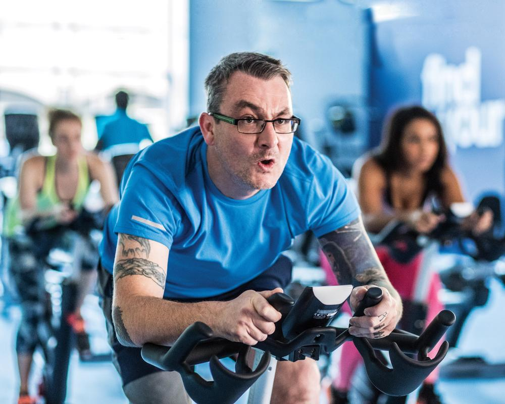 Cycling classes remain popular and are one of the top programming trends by level of adoption Image courtesy of The Gym Group.