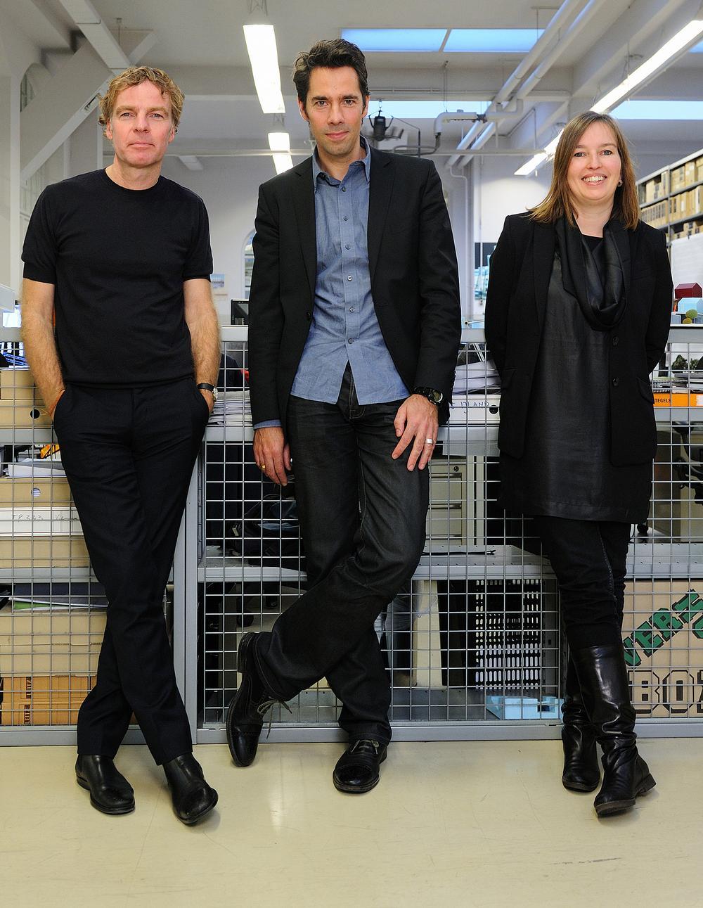 Winy Maas, Jacob van Rijs and Nathalie de Vries founders of MVRDV